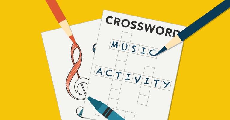 Music Crossword Puzzle Activity