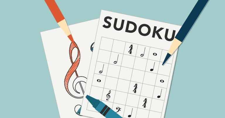 Music Sudoku Activity for Students