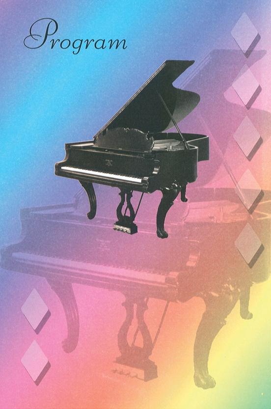 Schaum Recital Programs (Blank) #63: Grand Piano