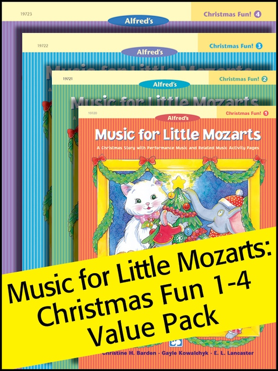 Music for Little Mozarts Christmas Fun! 1-4 (Value Pack)
