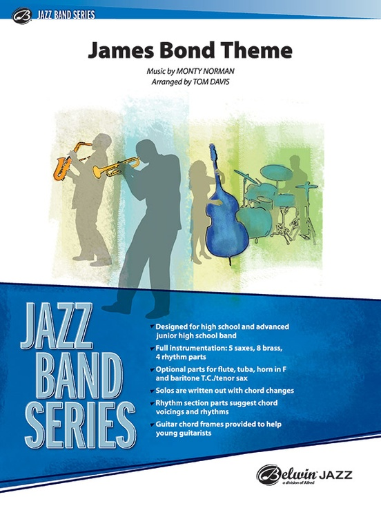 James Bond Theme: Jazz Ensemble Conductor Score & Parts