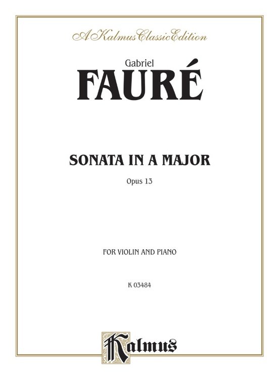 Sonata in A Major, Opus 13