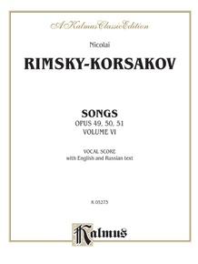 Songs, Volume VI (Opus 49, 50, 51)