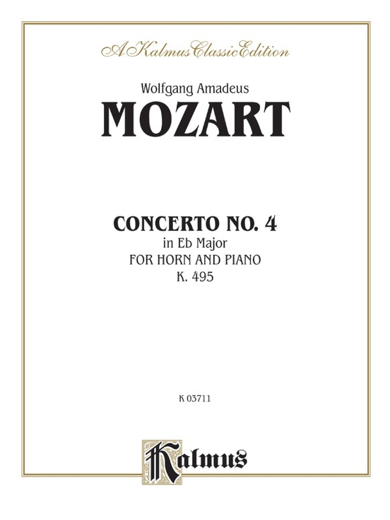 Horn Concerto No. 4 in E-flat Major, K. 495