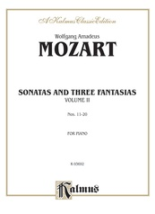 Sonatas and Three Fantasias, Volume II (Nos. 11-20)