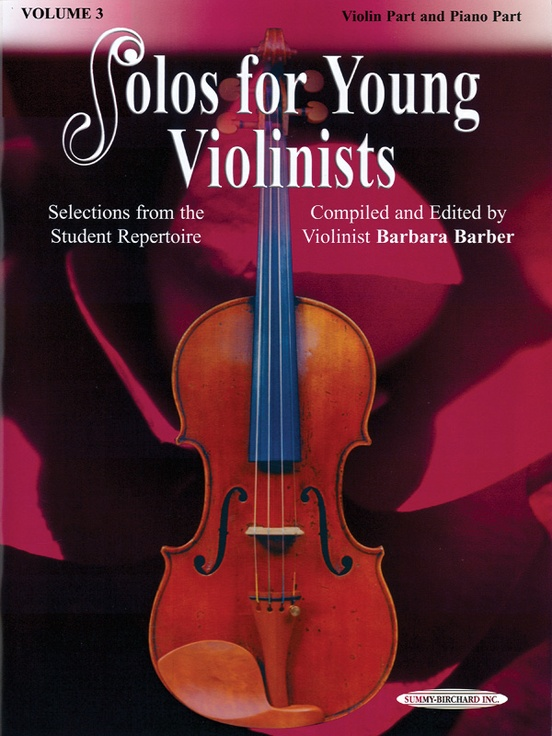 Solos for Young Violinists Violin Part and Piano Acc., Volume 3