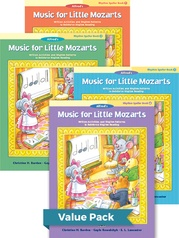 Music for Little Mozarts Rhythm Speller Books 1-4 (Value Pack)