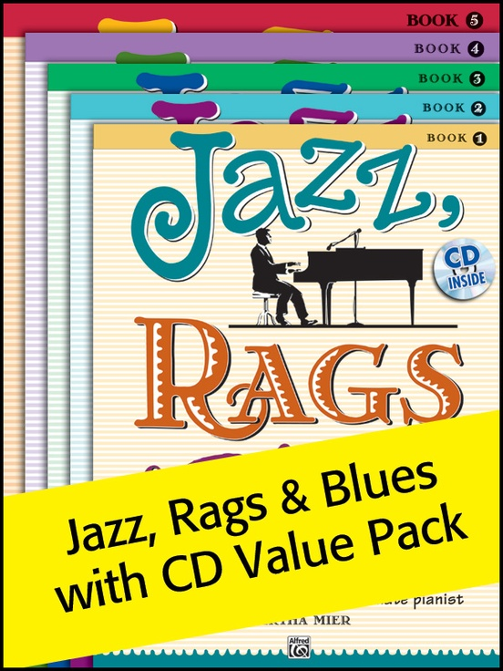 Jazz, Rags & Blues with CD 1-5 (Value Pack)
