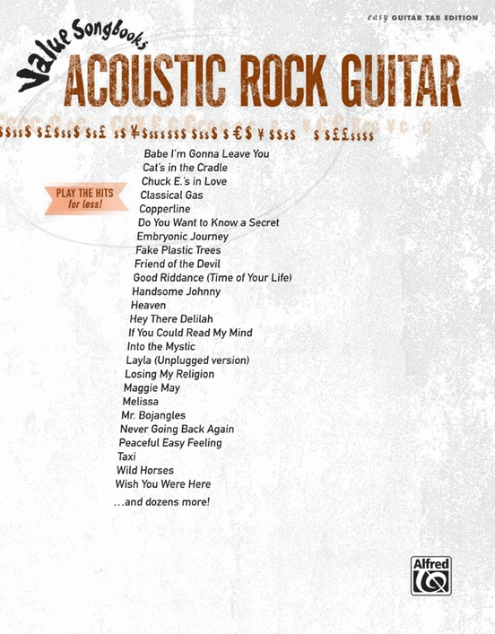Value Songbooks: Acoustic Rock Guitar