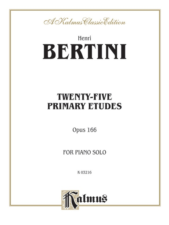 Twenty-five Primary Etudes, Opus 166