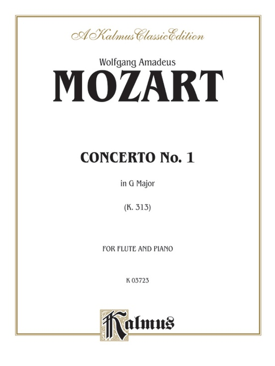 Flute Concerto No. 1 in G Major, K. 313