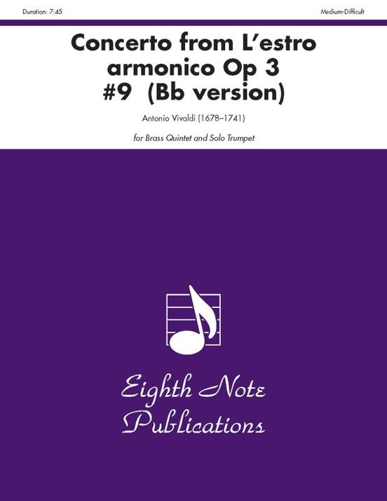Concerto (from L'estro Armonico, Op 3 #9) (B-flat version)