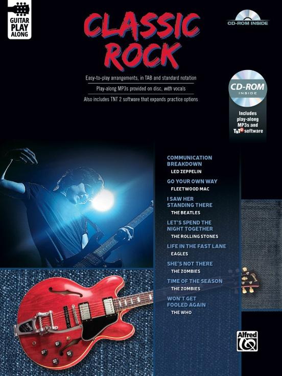 Classic Rock Guitar Play-Along: Guitar TAB Edition Book & CD-ROM