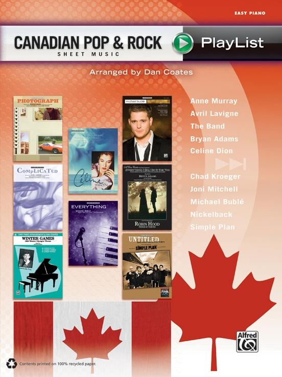 Canadian Pop & Rock Sheet Music Playlist