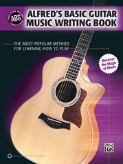 Alfred's Basic Guitar Music Writing Book