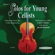 Solos for Young Cellists CD, Volume 4