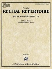 Favorite Recital Repertoire