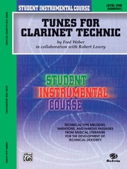 Student Instrumental Course: Tunes for Clarinet Technic, Level I