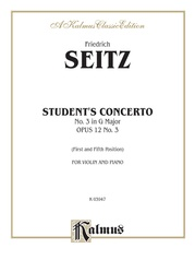 Student's Concerto No. III in G Minor, Opus 12