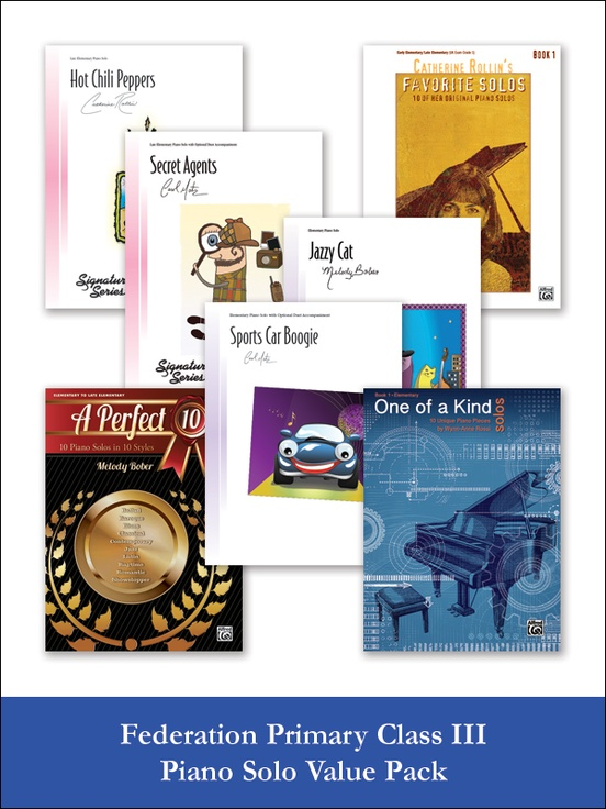 Federation Primary Class III Piano Solo (Value Pack)