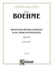 Twenty-four Melodic Exercises, Opus 20