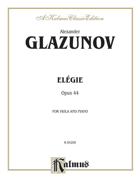 Elegie for Viola, Opus 44