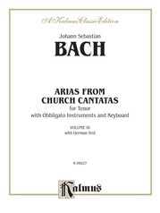 Arias from Church Cantatas, Volume III (4 Arias)