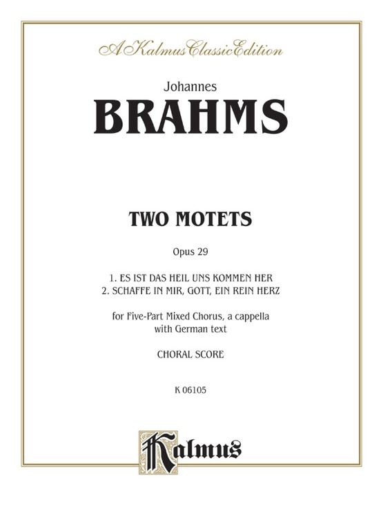 Two Motets, Opus 29