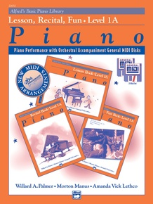 Alfred's Basic Piano Library: GM Disk -- Lesson, Recital & Fun Books, Level 1A (for 3 books)