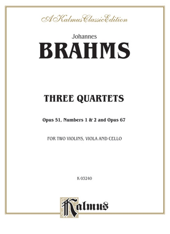 Three String Quartets, Opus 51, Nos. 1 & 2, Opus 67