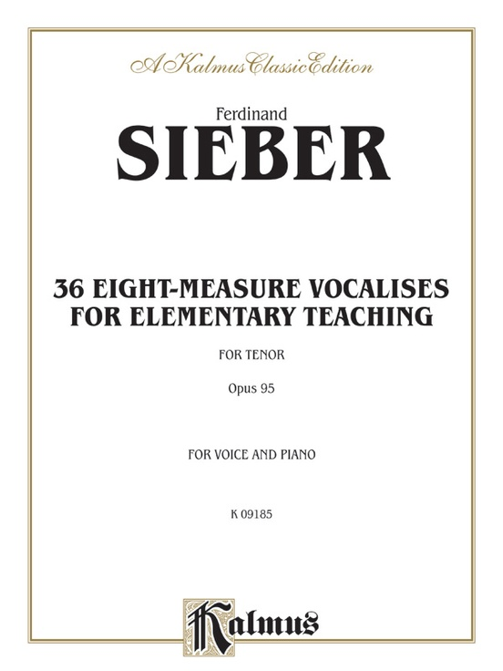 36 Eight-Measure Vocalises for Elementary Teaching