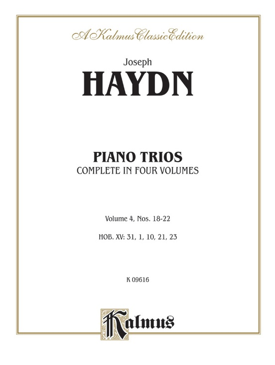 Trios for Violin, Cello and Piano, Volume IV (Nos. 18-22, HOB. XV: 31, 1, 10, 21, 23)