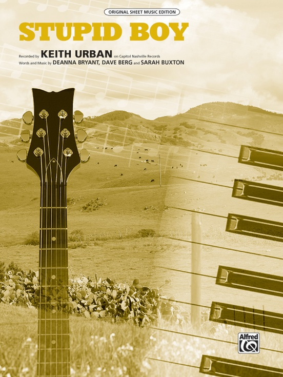 Stupid Boy Pianovocalchords Sheet Keith Urban