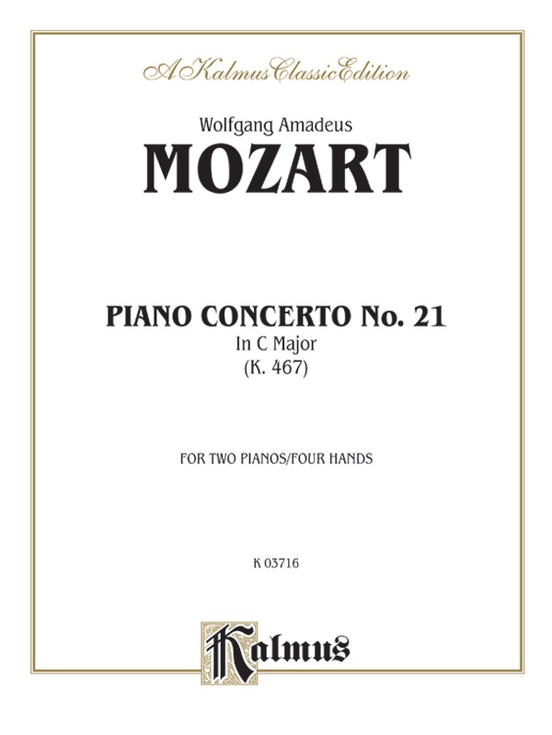 Piano Concerto No. 21 in C, K. 467