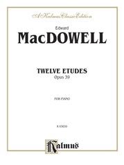 Twelve Etudes, Opus 39