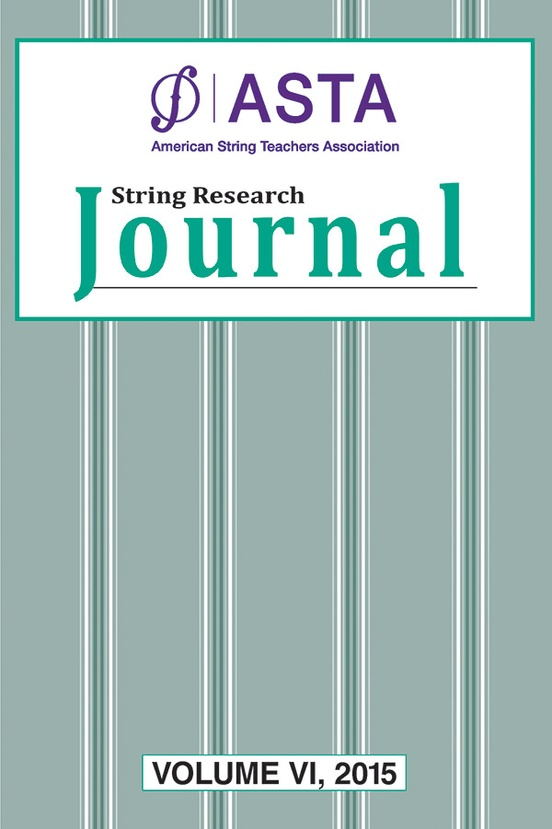 String Research Journal: Volume VI, 2015