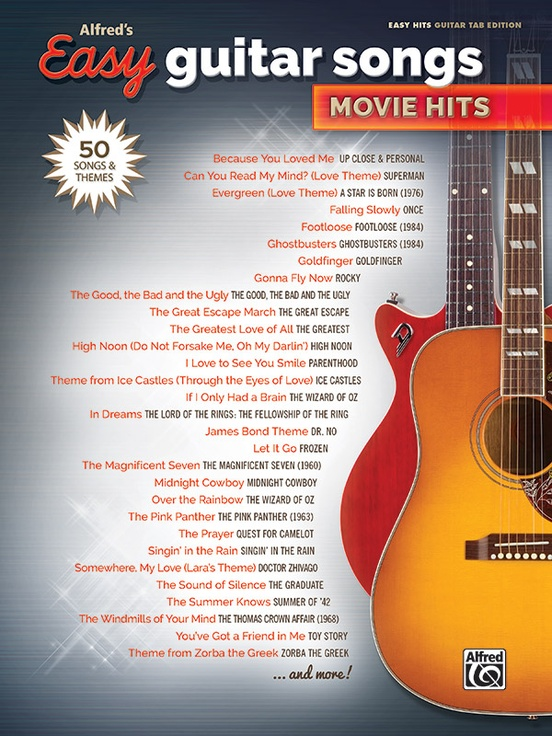 Alfreds Easy Guitar Songs Movie Hits Easy Hits Guitar Tab Book
