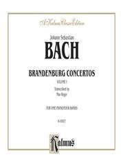 Brandenburg Concertos, Volume I