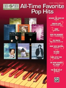 10 for 10 Sheet Music: All-Time Favorite Pop Hits