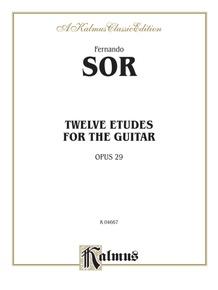 Twelve Etudes for the Guitar, Opus 29