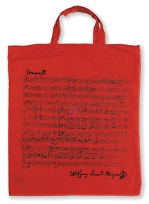 Tote Bag: Mozart (Red)