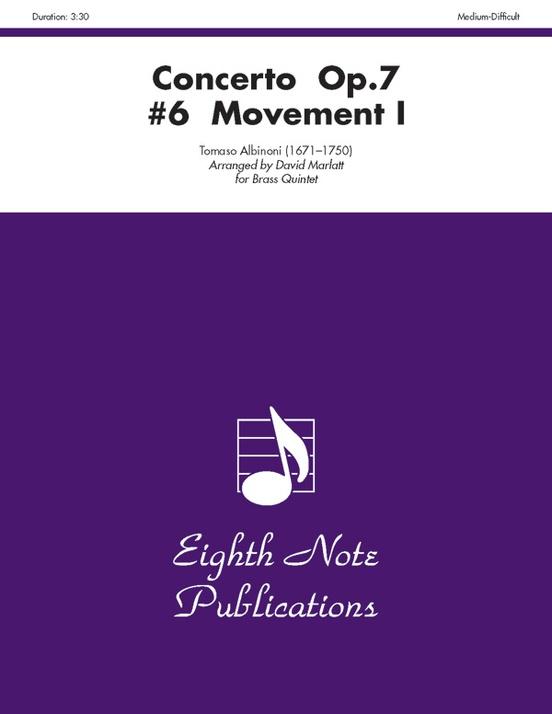 Concerto, Opus 7, No. 6 (Movement I)
