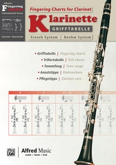 Grifftabelle für Klarinette Boehm-System [Fingering Charts for Clarinet -- French System]