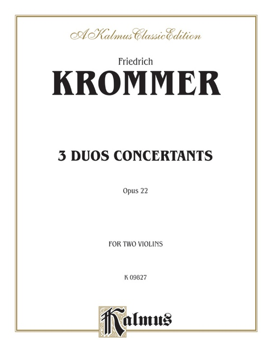 Three Duos Concertants, Opus 22