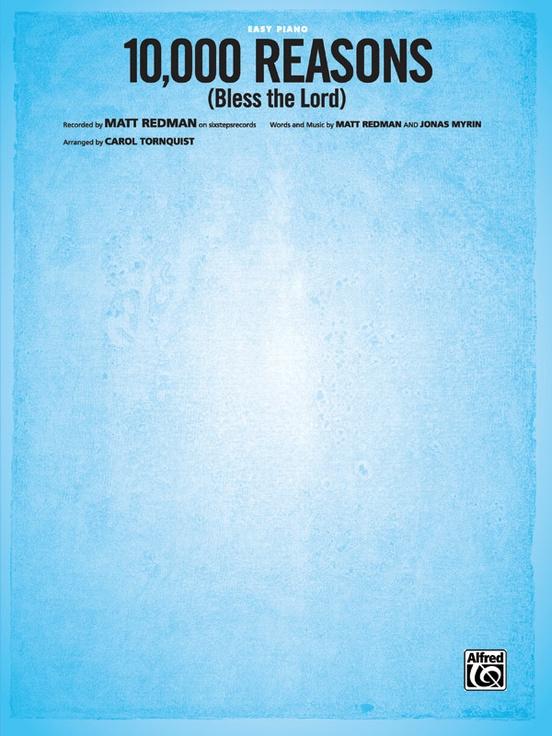 10000 Reasons Bless The Lord Piano Sheet Matt Redman