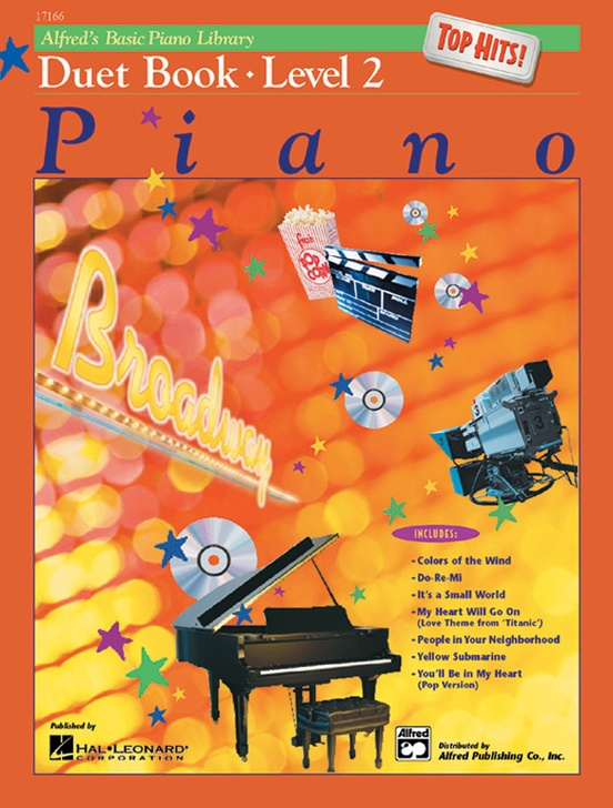 Alfred's Basic Piano Library: Top Hits! Duet Book 2