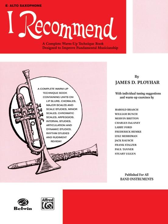 I Recommend E Flat Alto Saxophone Book