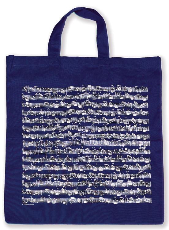Tote Bag: Sheet Music (Navy)