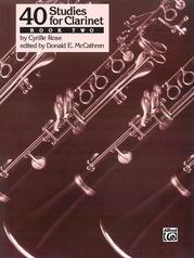 40 Studies for Clarinet, Book 2