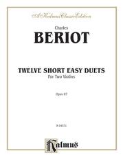 Twelve Short Easy Duets, Opus 87